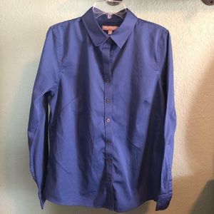Blue banana republic fitted shirt, size 16